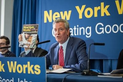 100,000 Good-Paying Jobs: Mayor de Blasio Releases 10-Year Plan To Invest In New Industries, Raise Wages, Train New Yorkers, Strengthen Middle Class